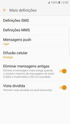 Samsung Galaxy S7 Edge - SMS - Como configurar o centro de mensagens -  7