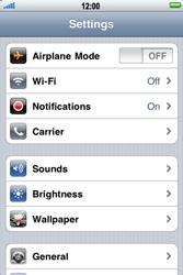 Apple iPhone 4 - Internet - Manual configuration - Step 3