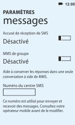HTC C110e Radar - SMS - configuration manuelle - Étape 4