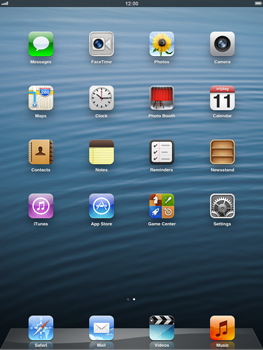 Apple iPad mini - Internet - Example mobile sites - Step 1