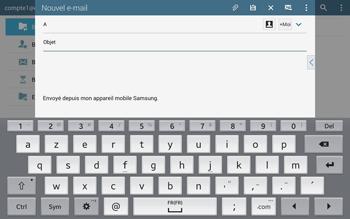 Samsung T805 Galaxy Tab S - E-mail - Envoi d