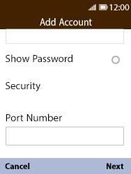 Nokia 8110 Banana - Email - Manual configuration POP3 with SMTP verification - Step 13