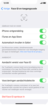 Apple iPhone X - Face ID en Animoji - Face ID probleem oplossen - Stap 6