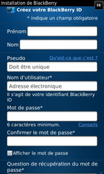 BlackBerry 9860 Torch - BlackBerry activation - BlackBerry ID activation - Étape 8
