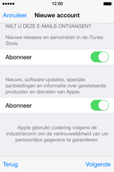 Apple iPhone 4s iOS 8 - Applicaties - Account aanmaken - Stap 19