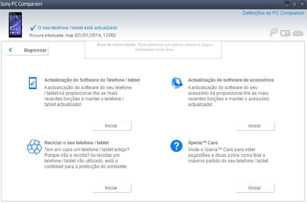 Sony D2105 Xperia E1 Dual - Funções básicas - Como atualizar o software do seu aparelho - Etapa 5