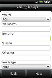 HTC A510e Wildfire S - Email - Manual configuration POP3 with SMTP verification - Step 6