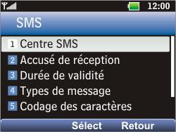 LG C360 Golf - SMS - Configuration manuelle - Étape 6