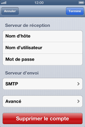 Apple iPhone 4 S iOS 6 - E-mail - Configuration manuelle - Étape 18