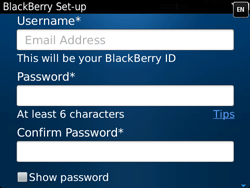 BlackBerry 9720 Bold - BlackBerry activation - BlackBerry ID activation - Step 10