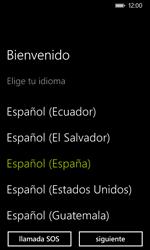 Nokia Lumia 635 - Primeros pasos - Activar el equipo - Paso 2