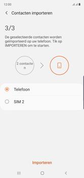 Samsung galaxy-note-10-dual-sim-sm-n970f - Contacten en data - Contacten kopiëren van SIM naar toestel - Stap 12