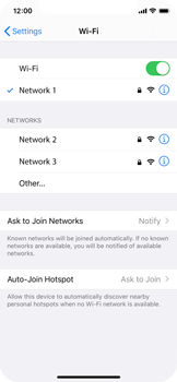 Apple iPhone X - iOS 13 - Wi-Fi - Connect to a Wi-Fi network - Step 7