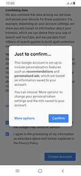 Samsung Galaxy A40 - Applications - Create an account - Step 17