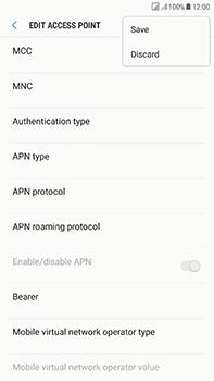 Samsung Galaxy J7 (2017) - Internet - Manual configuration - Step 17