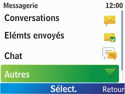 Nokia C3-00 - Messagerie vocale - configuration manuelle - Étape 5