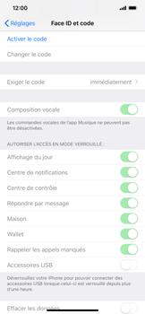Apple iPhone XS Max - Sécuriser votre mobile - Activer le code de verrouillage - Étape 4