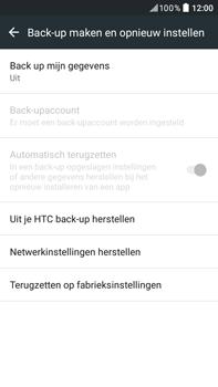 HTC Desire 825 - Device maintenance - Terugkeren naar fabrieksinstellingen - Stap 6