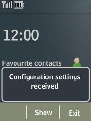 Nokia X3-02 - MMS - Automatic configuration - Step 3
