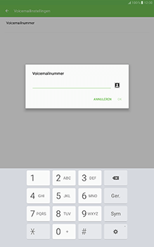 Samsung Galaxy Tab A 10.1 (SM-T585) - Voicemail - Handmatig instellen - Stap 8