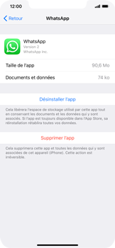 Apple iPhone XR - Applications - Supprimer une application - Étape 6