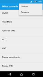 Sony Xperia M5 (E5603) - Mensajería - Configurar el equipo para mensajes multimedia - Paso 15