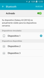 Samsung Galaxy A3 (2016) - Bluetooth - Conectar dispositivos a través de Bluetooth - Paso 8