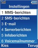 Samsung E2370 Megacell - MMS - handmatig instellen - Stap 5