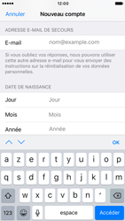 Apple iPhone 6s iOS 10 - Applications - Créer un compte - Étape 14
