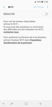 Samsung Galaxy S8 - Android Oreo - Wifi - configuration manuelle - Étape 5