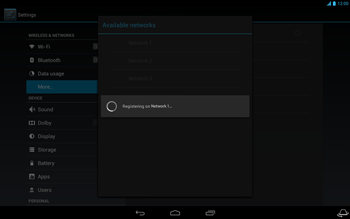 Acer Iconia Tab A3 - Network - Usage across the border - Step 11