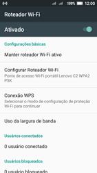 Lenovo Vibe C2 - Wi-Fi - Como usar seu aparelho como um roteador de rede wi-fi - Etapa 11