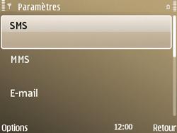 Nokia E72 - SMS - configuration manuelle - Étape 5