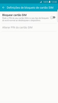 Samsung Galaxy S6 Edge + - Segurança - Como ativar o código PIN do cartão de telemóvel -  7