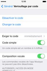 Apple iPhone 4S - Sécuriser votre mobile - Activer le code de verrouillage - Étape 8