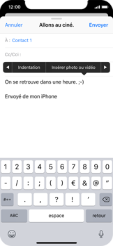 Apple iPhone X - iOS 12 - E-mail - envoyer un e-mail - Étape 9