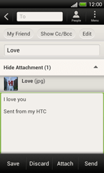 HTC C525u One SV - Email - Sending an email message - Step 15