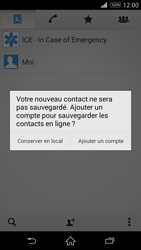 Sony Xperia Z3 Compact - Contact, Appels, SMS/MMS - Ajouter un contact - Étape 6