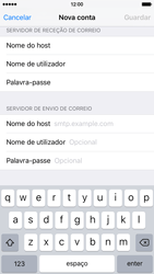 Apple iPhone 6 iOS 9 - Email - Configurar a conta de Email -  13