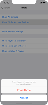 Apple iPhone XS Max - Device - Reset to factory settings - Step 7