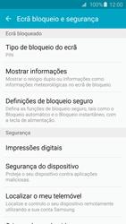 Samsung Galaxy S6 - Segurança - Como ativar o código de bloqueio do ecrã -  12