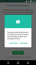 Sony Xperia XA (F3111) - Aplicações - Como configurar o WhatsApp -  11