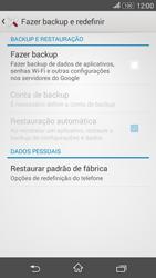 Sony Xperia E4G - Funções básicas - Como restaurar as configurações originais do seu aparelho - Etapa 7