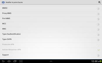 Samsung N8000 Galaxy Note 10-1 - MMS - Configuration manuelle - Étape 12