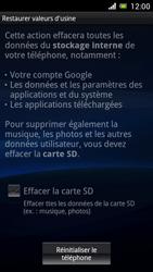 Sony Ericsson Xpéria Arc - Aller plus loin - Restaurer les paramètres d'usines - Étape 6