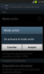 Samsung Galaxy S3 Mini - Funciones básicas - Activar o desactivar el modo avión - Paso 6