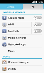 Huawei Ascend Y330 - WiFi and Bluetooth - Manual configuration - Step 4