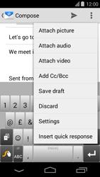 Acer Liquid E600 - E-mail - Sending emails - Step 10