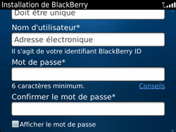 BlackBerry 9900 Bold Touch - BlackBerry activation - BlackBerry ID activation - Étape 9