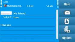 Nokia N97 - MMS - Sending pictures - Step 12